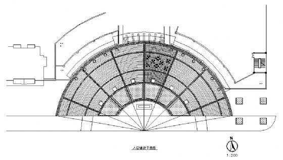 广场入口铺装平面图