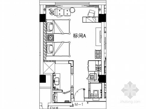 [西安]某豪华酒店标间室内装修图(含效果)