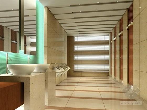 公共卫生间3D模型下载