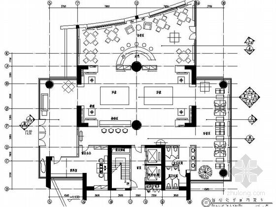 [佛山]高档社区核心居住区售楼处设计装修图