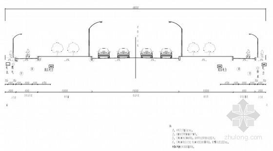 [浙江]48m宽改性沥青双向四车道市政道路设计图纸92张(含雨污水)