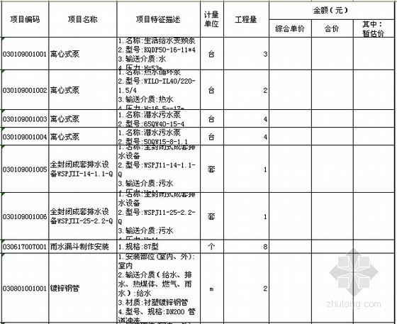 2012年办公楼建筑工程全套招标文件(清单+图纸)