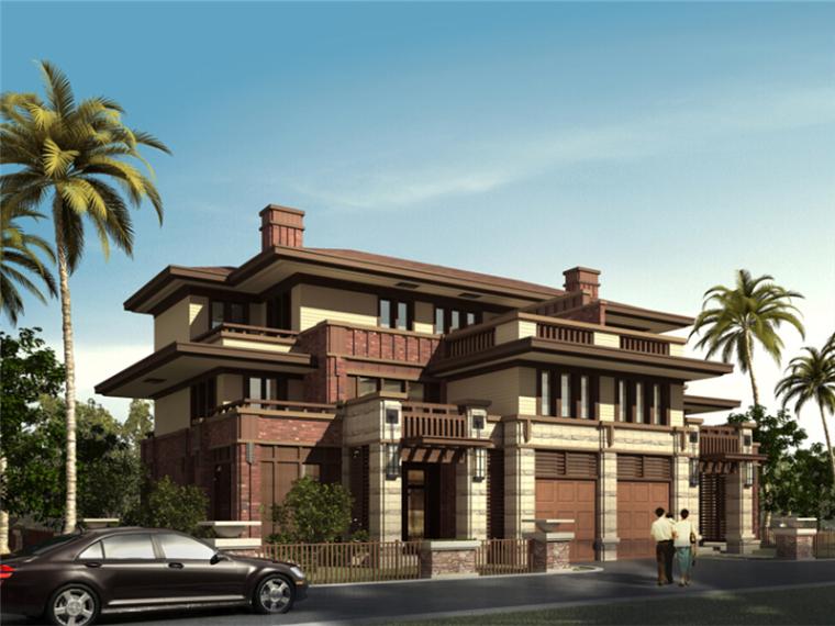 [广东]大型纯欧式风格独栋别墅设计方案文本(14套方案)