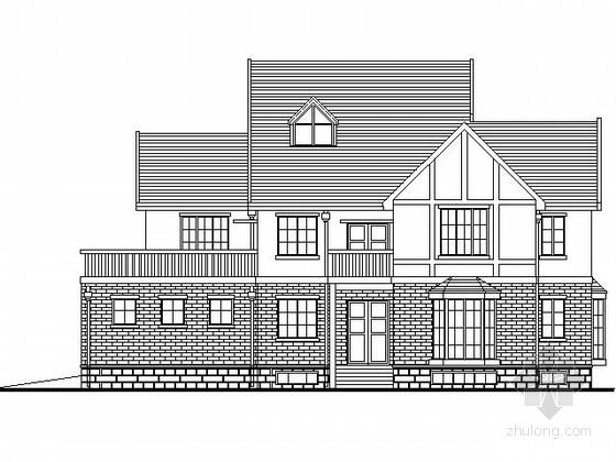 某二层北美风情独栋别墅扩初图(南入口500平米)