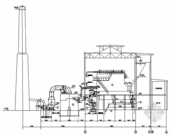 某集中供热锅炉房主体设计图纸-锅炉房剖面图