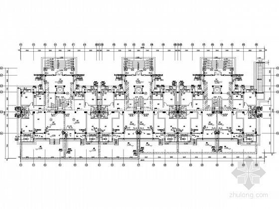 [江苏]6层普通住宅给排水图纸(太阳能热水系统)