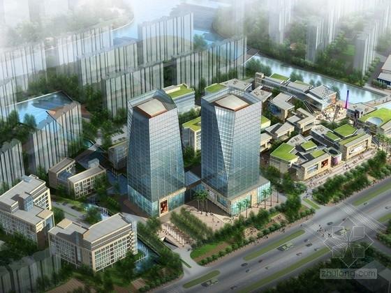 [江苏]景观式企业总部双塔大厦建筑设计方案文本(知名地产含CAD)-[江苏]景观式企业总部双塔大厦建筑设计方案文本(知名地产 含CAD)