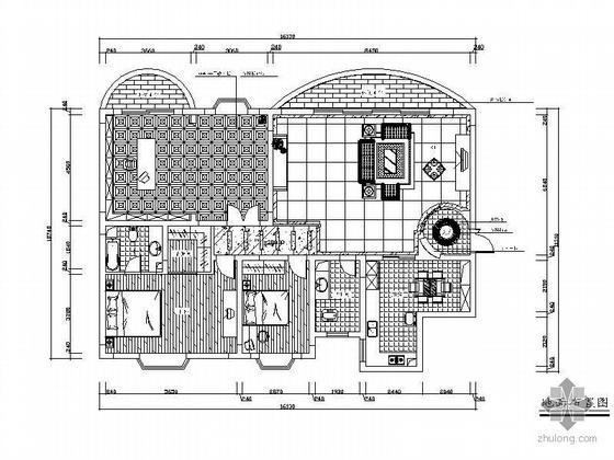 中式风格三居室设计图