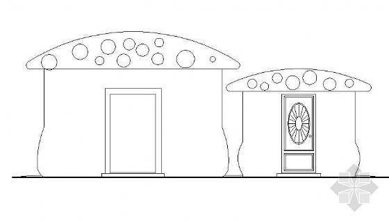 蘑菇型厕所施工图