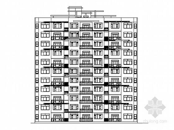 [湖北孝昌]某十七层高层住宅楼建筑施工图(含效果图)