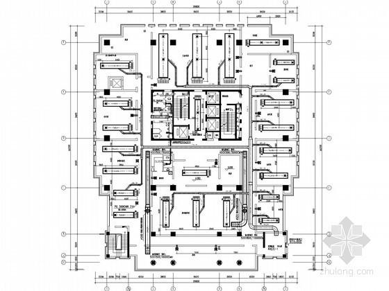 高层办公建筑空调通风系统设计施工图(含消防设计)