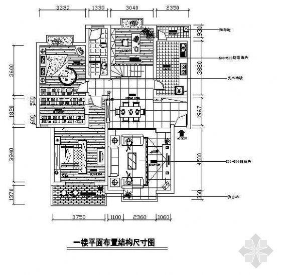 一套小型复式楼的设计图纸