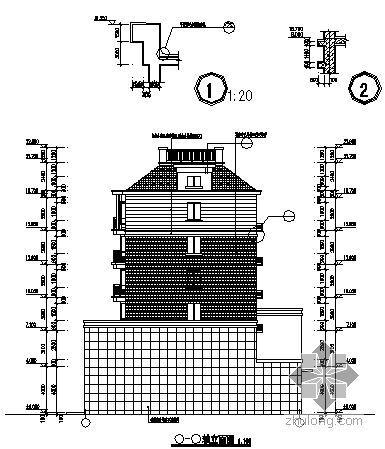 [安徽滁州]某湖心小区2号楼建筑施工图-2