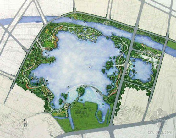 江苏镇江湖景观工程及配套设施景观设计方案