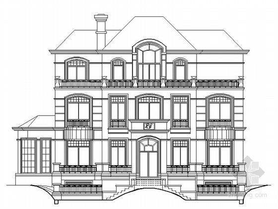 某三层奢华欧式别墅建筑扩初图(带电梯)