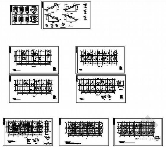某两层职工宿舍结构设计图