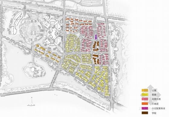 现代风格多功能城市综合体分析图