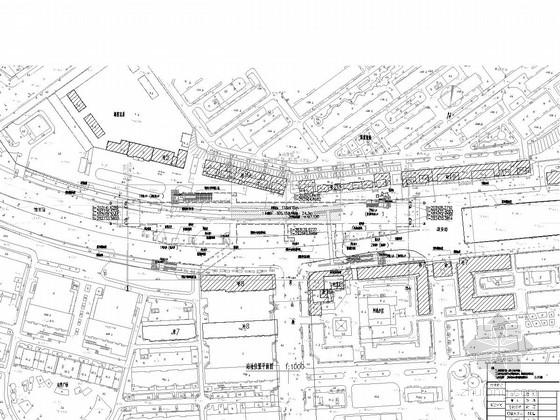 [黑]地下三层上下重叠式岛式站台换乘车站地铁车站设计图141张(含照明设备管线)