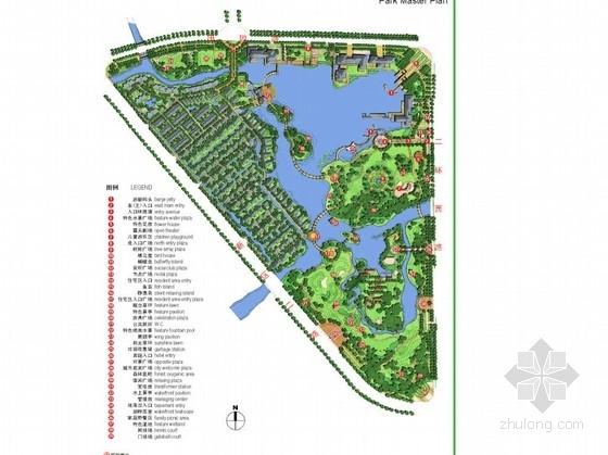 [湖州]临湖居住区休闲生态主题公园景观规划设计方案