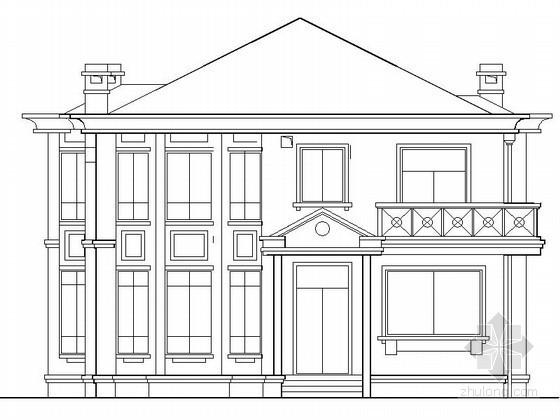 某二层豪华欧式别墅建筑方案图(带阁楼)