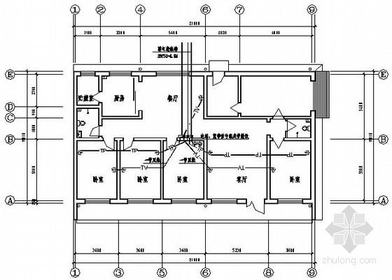 某平房标准间电气图纸图片