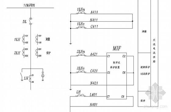 浙江某医院高低压变配电所全套控制原理图