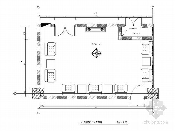 某小贵宾室室内设计装修图