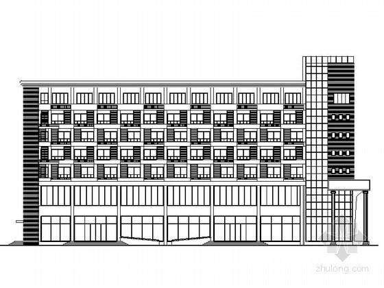 [河北大城]某购物广场七层快捷酒店建筑施工图