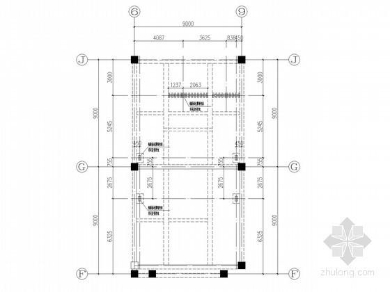 原楼板新加钢梁加固节点构造详图