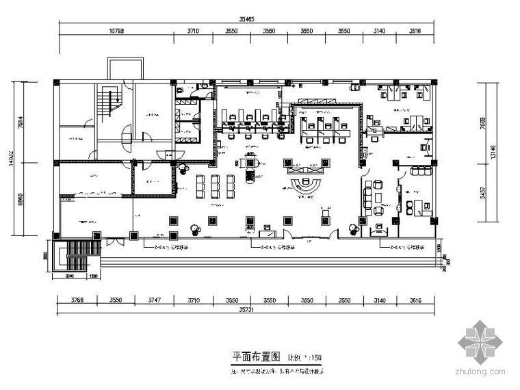 [保定]2009农业银行某支行办公室装修图