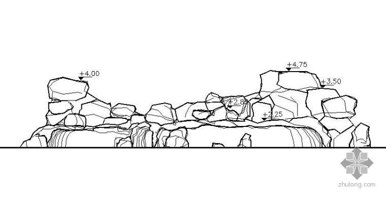 游池假山施工图