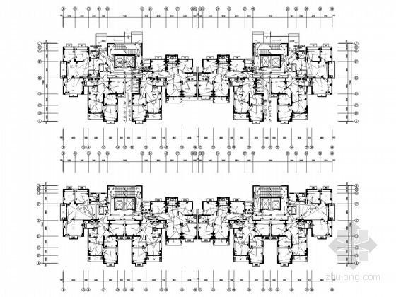 [安徽]综合住宅小区强电系统施工图纸87张(含水暖)