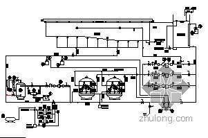 某游泳池循环水流程、设备、管道布置图
