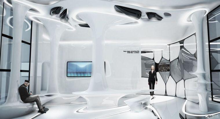 炫酷智能展示厅设计表现
