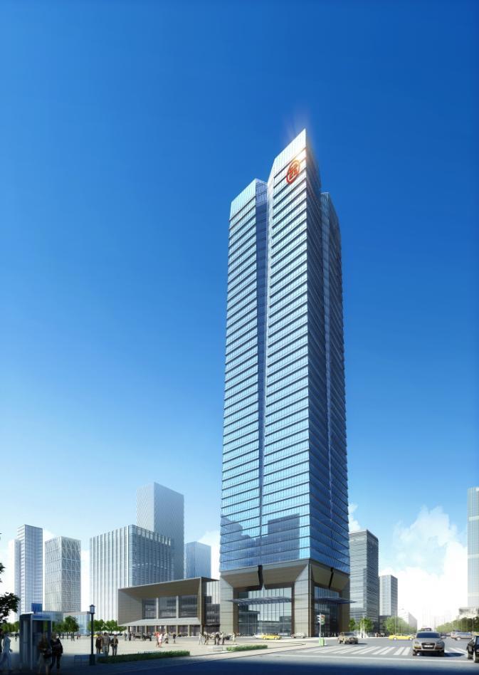 [湖北]超高层点式幕墙立面金融办公中心建筑设计方案文本