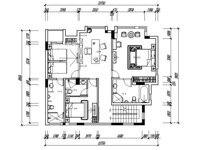 [重庆]万科奢华别墅设计施工图(含效果图)