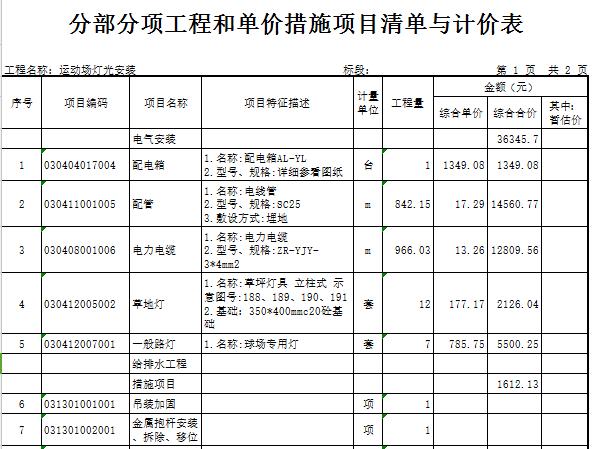 【广东】学校塑胶面层运动场及周边设施维修工程预算书(含图纸)_6