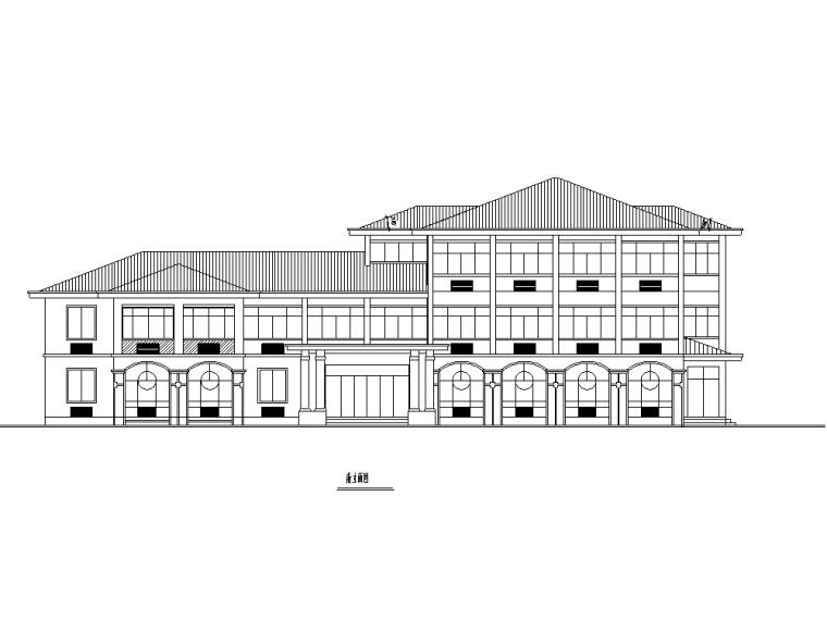 某獨棟單層收費站設計方案施工圖CAD