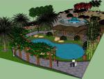 精品街心花园景观设计(su模型)