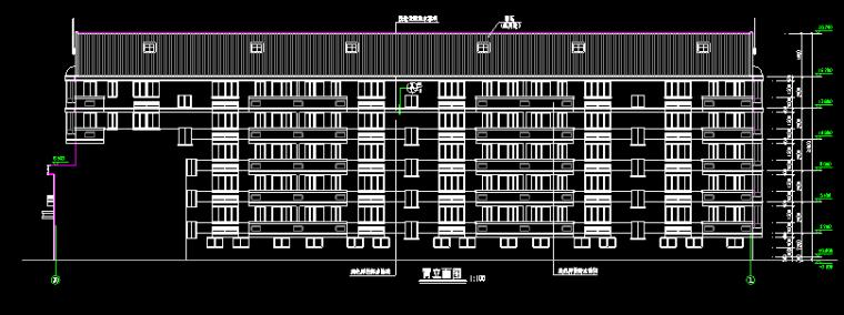 临街商住楼建筑施工图