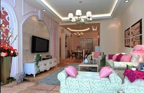 16款田园风格客厅装修实景图 田园风格家装设计很暖很美丽!