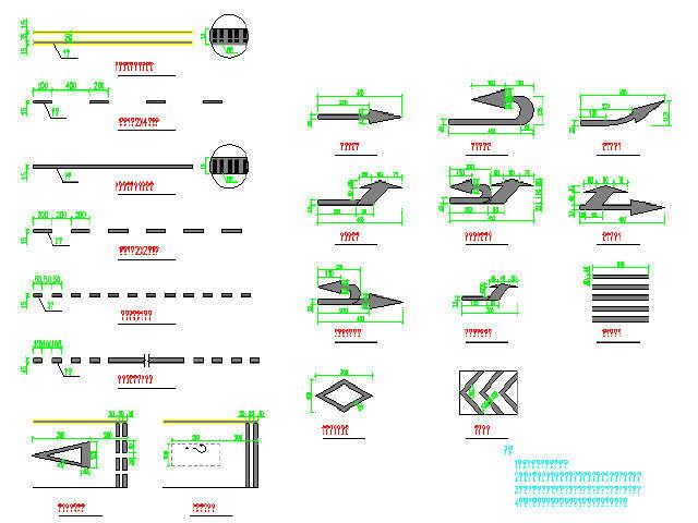 [湖南]双向六车道城市主干路交通工程设计图49张CAD(标志标线信号灯,电子警察)