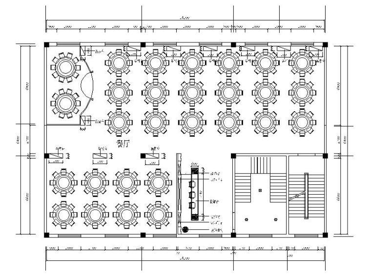 [内蒙古]现代简约酒店餐厅室内设计施工图(含效果图)