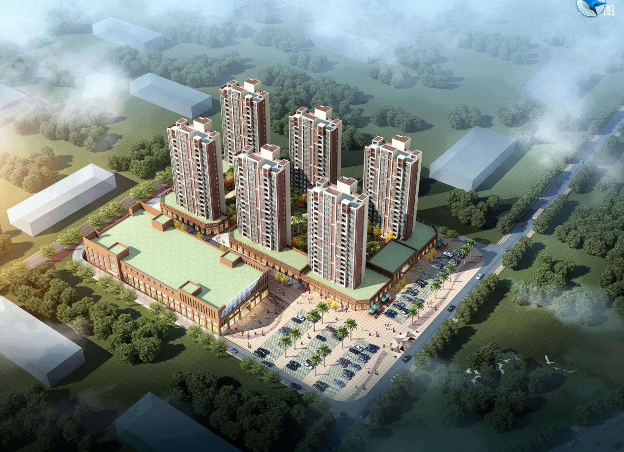 [方案][福建]现代风格竖向线条式塔式住宅楼建筑设计方案文本