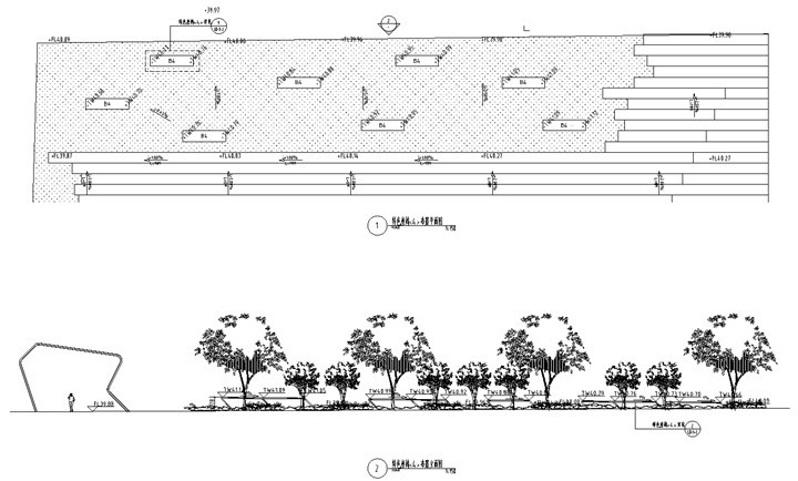 [北京]科技商务园营销体验区景观施工图(LEED黄金认证项目)-特色座椅详图