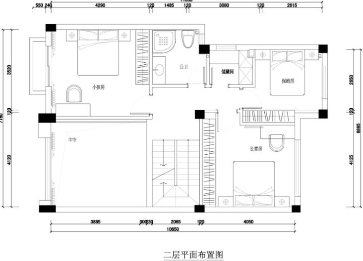 公园道一号别墅装修设计施工图及效果图