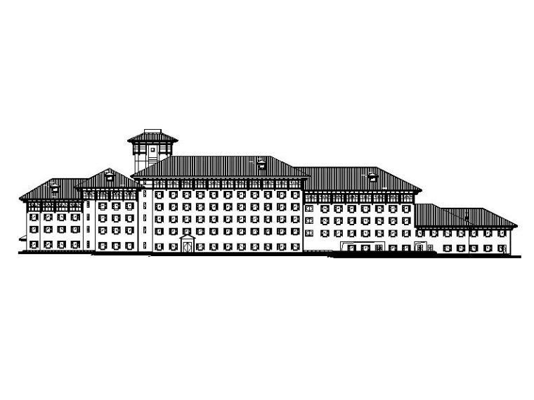 [江西]高层新中式风格高级滨湖旅店建筑施工图