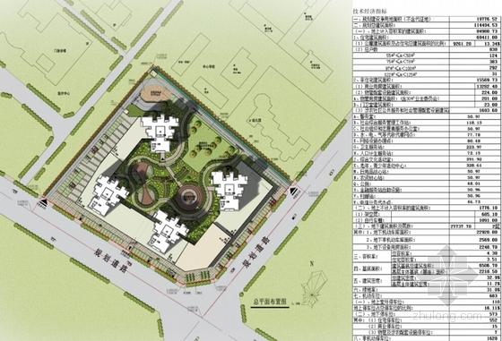 现代风格超高层住宅安置区设计总平面图图片