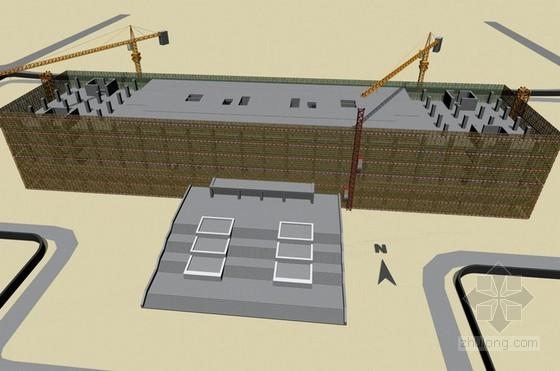 [天津]框架剪力墙结构图书馆工程施工组织设计(210页技术标)-主体结构流水施工图
