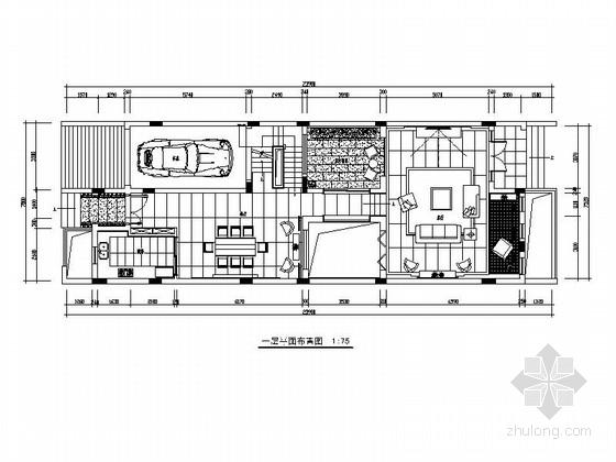 [深圳]西班牙风情小镇三层别墅装修施工图(含效果图)